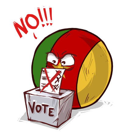 Cameroon voting no Illustration