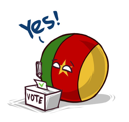 Cameroon voting yes Stock Illustratie