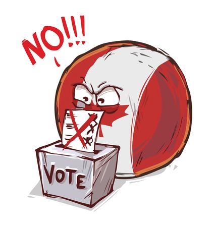 canada country voting no Vetores