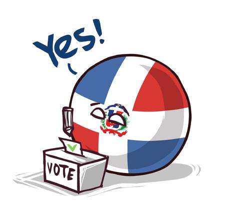Dominican Republic voting yes Illusztráció