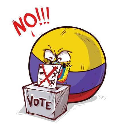 Ecuador voting no Vetores