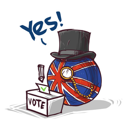 country voting great britain YES Vetores