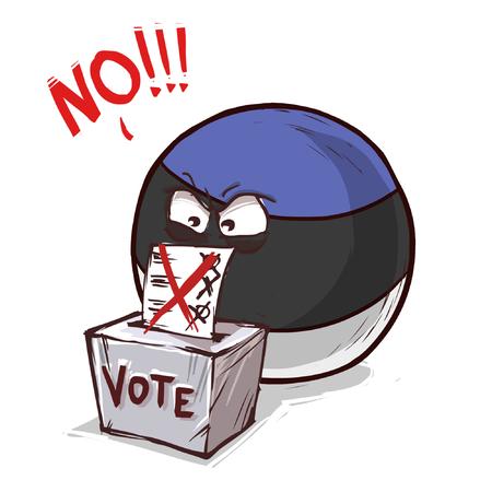 Estonia voting no
