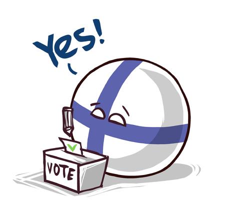 Finland voting yes Illusztráció