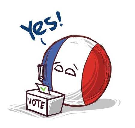 France voting yes Illustration