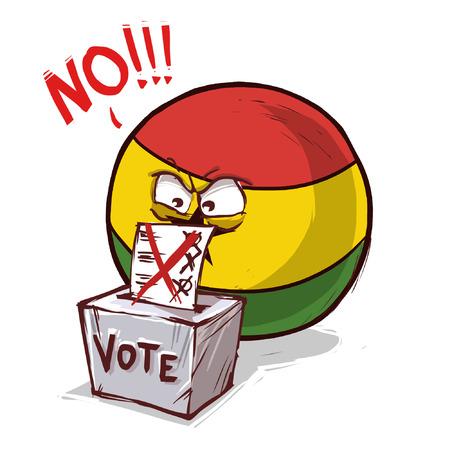 Ghana vote non Vecteurs