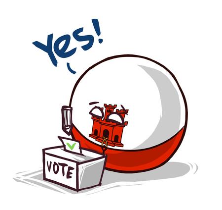 Gibraltar voting yes