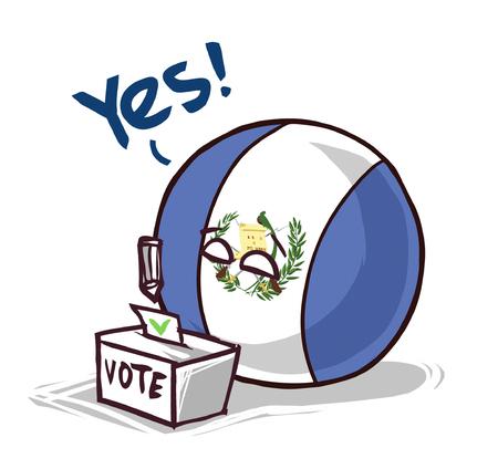 Guatemala voting yes Vetores