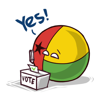 Guinea voting yes