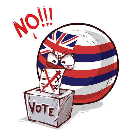 Hawaii island ball voting no Illustration