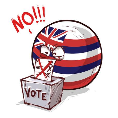 Hawaii island ball voting no Illustration