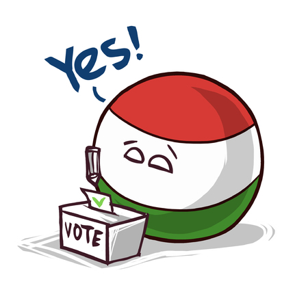 Hungary country ball voting yes