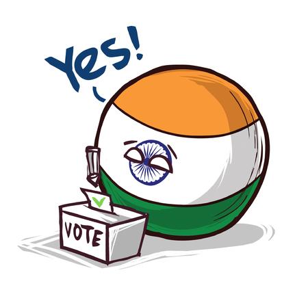 india voting yes Ilustração