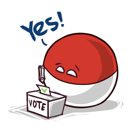 Indonesia country ball voting yes 向量圖像
