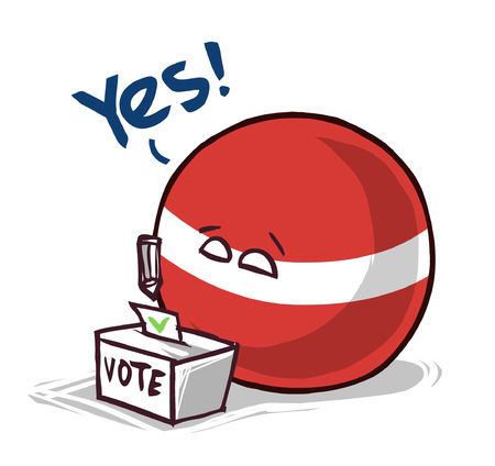 Latvia country ball voting yes