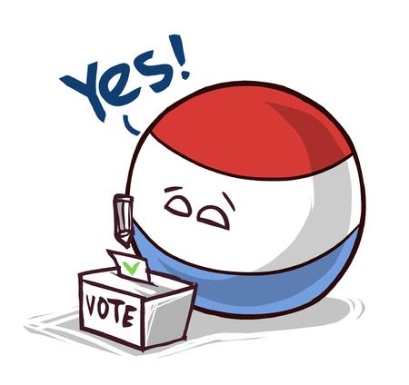 Vote au scrutin national au Luxembourg oui