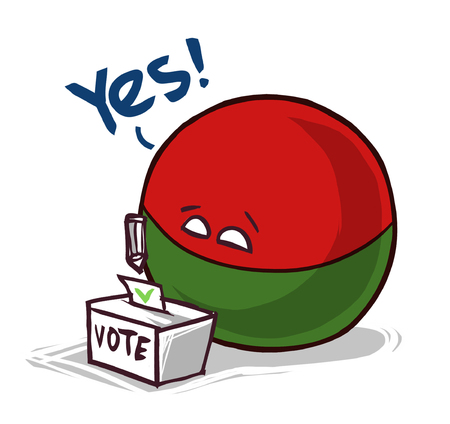 Madagascar country ball voting yes