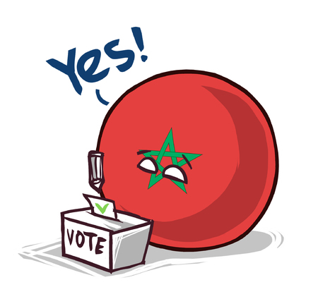 morocco country ball voting yes  イラスト・ベクター素材