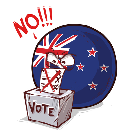 New Zeland country ball voting no Çizim