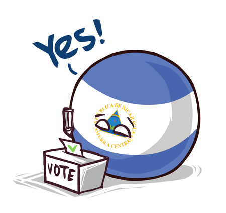 Nicaragua country ball voting yes