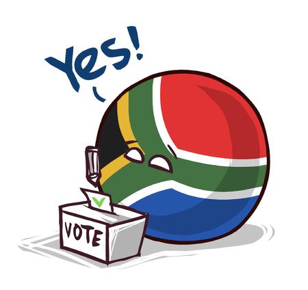Vote au scrutin par pays d'Afrique du Sud Oui Vecteurs