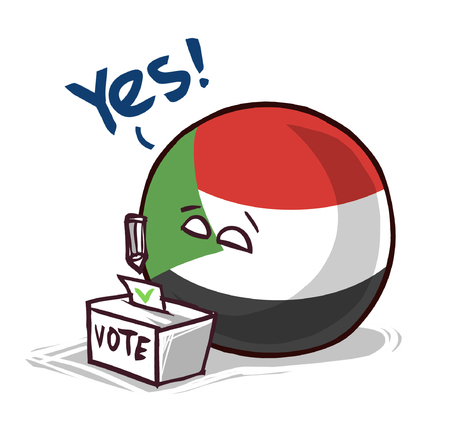 Sudan country ball voting yes