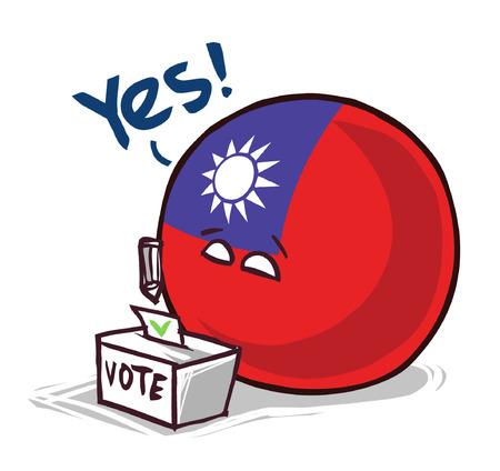 Taïwan pays vote au ballon oui Vecteurs