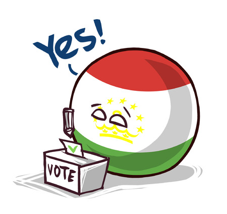 Tajikistan country ball voting yes