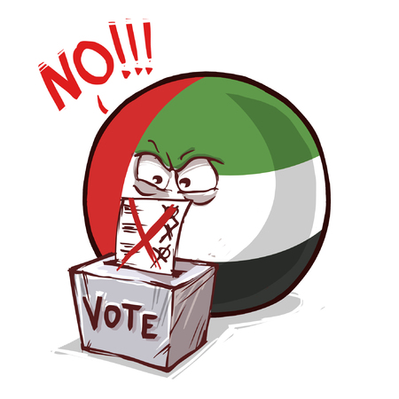 United Arab Emirates country ball voting no