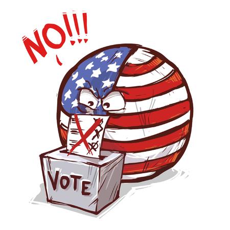 kraj głosowania USA NIE Ilustracje wektorowe