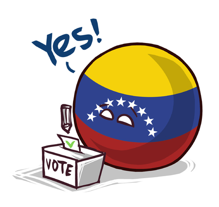 Venezuela country ball voting yes Standard-Bild - 106576941