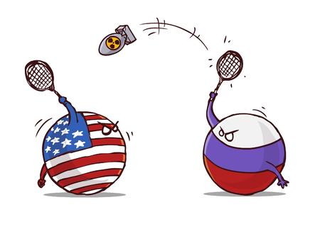 nukleares Badminton Russland gegen USA