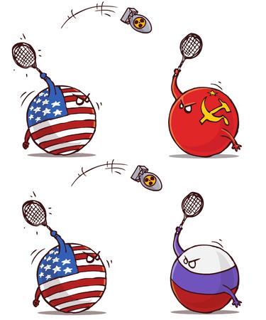 badminton nucléaire URSS Russie contre USA