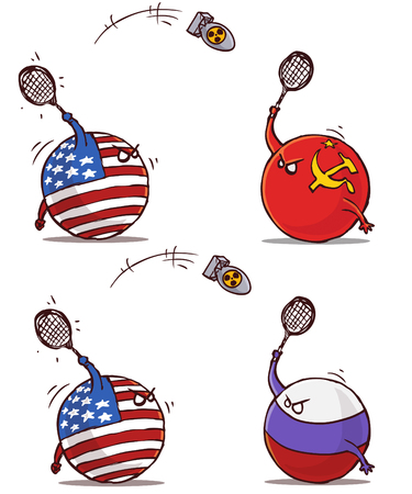 nucleair badminton ussr rusland versus vs