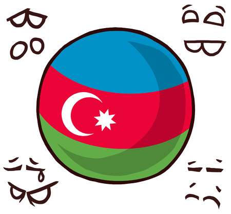 Azerbaijan country ball illustration.