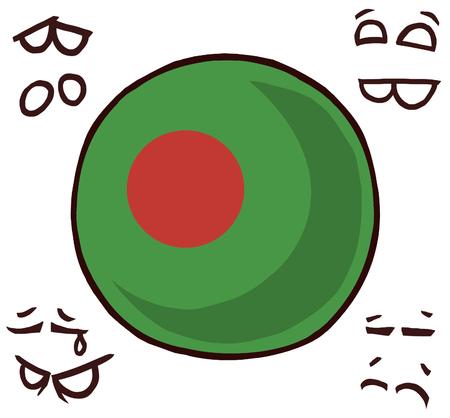 Bangladesh country ball