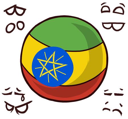 Ethiopia country ball