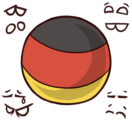 germany country ball 向量圖像