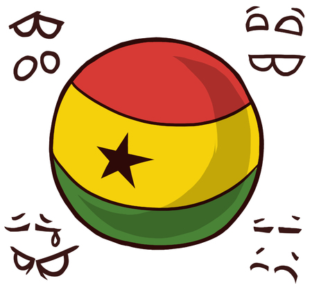 Ghana country ball  イラスト・ベクター素材