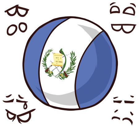 Guatemala country ball  イラスト・ベクター素材