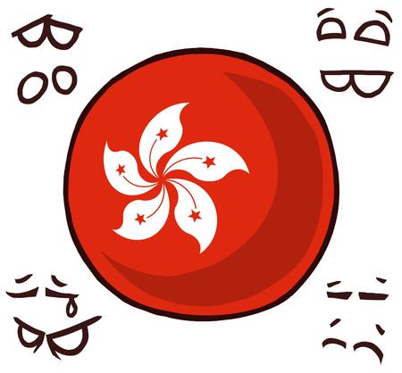 hong kong country ball  イラスト・ベクター素材