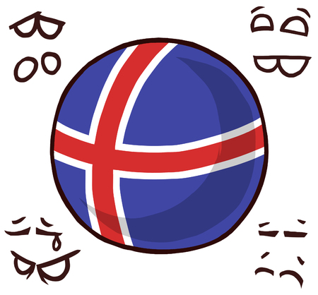 Iceland country ball