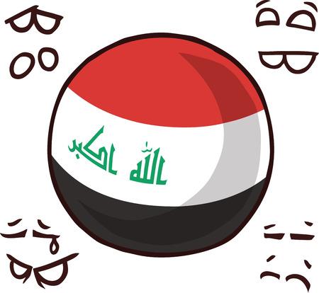 iraq country ball  イラスト・ベクター素材