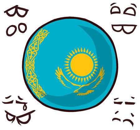 Kazakhstan country ball  イラスト・ベクター素材