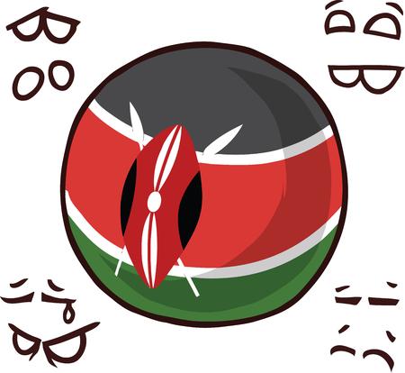kenya country ball  イラスト・ベクター素材