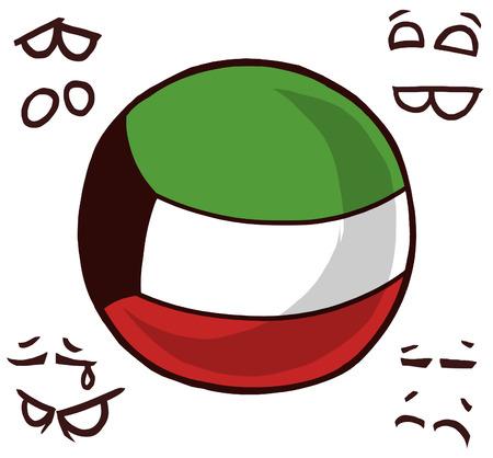 Kuwait country ball
