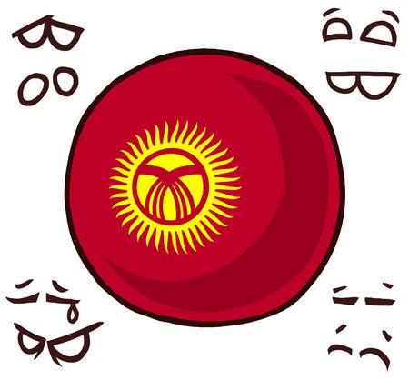 Kyrgyzstan country ball