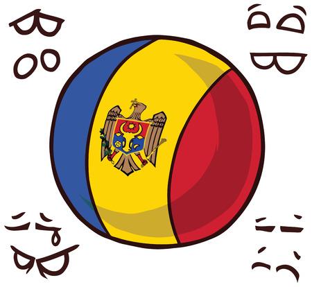 moldova country ball  イラスト・ベクター素材