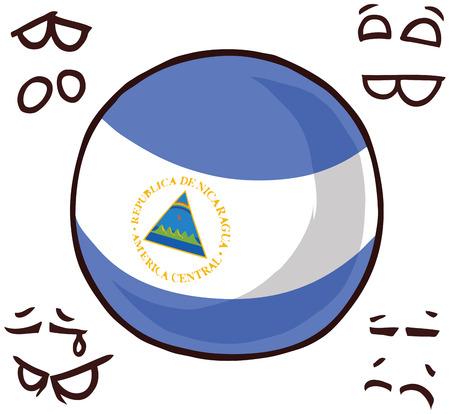 Nicaragua country ball Ilustração