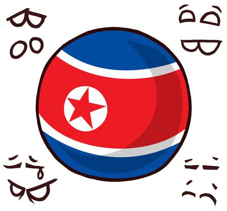 country ball north korea  イラスト・ベクター素材
